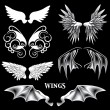 Vector Angel and Demon Wings — Vettoriali Stock
