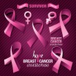 Breast Cancer Awareness — Stock Vector