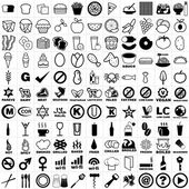 121 Restaurant and Bar Icon Set — Stock Vector