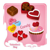 Valentine's Day Sweets — Stock Vector