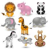 Cute dieren illustraties — Stockvector