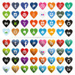 Social Media Icons, Heart-Shaped — Stock Vector #40293529