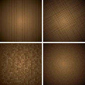 Brown Abstract Textures — Stock Vector