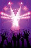 Concert Event — Stock Vector