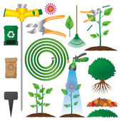 Gardening Objects — Stock Vector