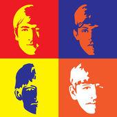 The Fab Four - John, Paul, Ringo & George — Stock Vector