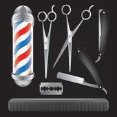 Barber Shop Vector Collection — Stock Vector