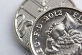 Silver Coin Macro — Stock Photo