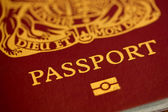 British Passport — Stock Photo