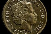 A British Pound Coin — Stock Photo