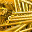 Gold Screws — Stock Photo