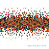 Abstract Pixel Background — Stock Vector