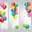 Stock Vector: Holiday banners with colorful balloons. Vector.