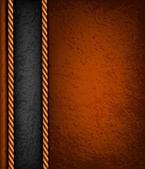 用棕色和黑色皮革的复古背景。矢量伊路斯特拉 — 图库矢量图片