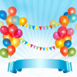 Happy birthday background with colorful balloons. Vector illustr — Stock Vector #22685585