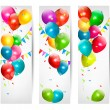 Holiday banners with colorful balloons. Vector. — Stock Vector #22852806