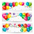 Holiday banners with colorful balloons. Vector. — Stock Vector #22852824