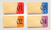 Set of retro cardboard banners. Vector — Stock Vector