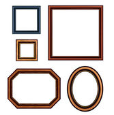 Set of vintage brown picture frames. Vector — Stock Vector