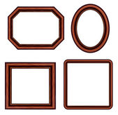 Set of vintage brown picture frames. Vector — Stockvector