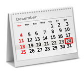 A date circled on a calendar with red ink. Vector illustration. — Stock Vector