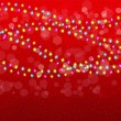 Christmas background with colorful garlands. Vector. — Stock Vector #34970529