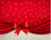 Holiday background with gift glossy bow and ribbons. Vector — ストックベクタ
