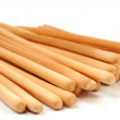 Breadsticks on white background — Stock Photo