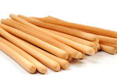 Breadsticks on white background — Stock Photo
