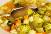 Broccoli soup with potatoes — Stock Photo