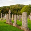Stock Photo: Old cemetery in Scottish country churchyard