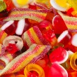 Mixed colourful fruit candies background — Foto de Stock