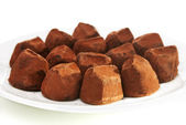 Cocoa dusted chocolate truffles — Stock Photo