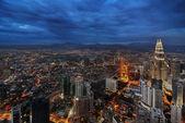 Kuala Lumpur City Center in Blue — Stock Photo