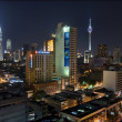 Kuala Lumper night view 2 — Stock Photo
