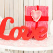 Lettering love — Stock Photo