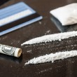 Two line of cocaine — Stock Photo