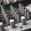 Detail of a music mixer in studio — Stock Photo
