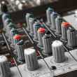 Stock Photo: Detail of music mixer in studio