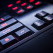 PC keyboard of black color closeup view — Foto Stock