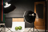 Water-melon in a photographic studio on a white background — Stock fotografie