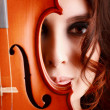 Beautiful young girl with violin — Stock Photo #37721699