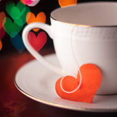 Valentine's day cup with heart shape — Stock Photo