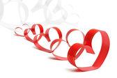 Fitas em forma de corações em branco, conceito de dia dos namorados — Fotografia Stock