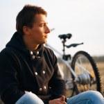 Handsome man outdoors portrait — Stock Photo