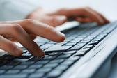 Image of man's hands typing. Selective focus — Stock Photo
