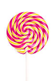 Colorful spiral lollipop isolated on white background — Stock Photo