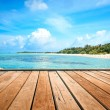 Jetty, beach and jungle - vacation background — Stock Photo #43215269