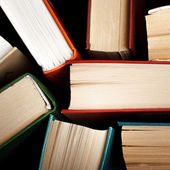 Old and used hardback books — Stock Photo
