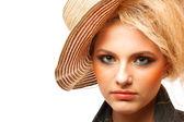 Szczegół portret młodej kobiety piękne — Zdjęcie stockowe